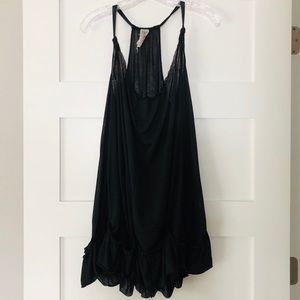 Free People Long Black Sleeveless Tunic